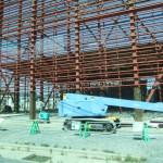 建設中の水産加工会社